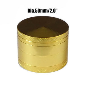 Weed Lovers Shop Grinders China / Golden 50mm 4 Layers Mini Metal Weed Grinder