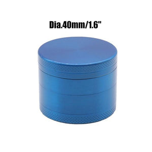 Weed Lovers Shop Grinders China / Blue 40mm 4 Layers Mini Metal Weed Grinder