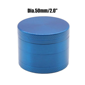 Weed Lovers Shop Grinders China / Blue 50mm 4 Layers Mini Metal Weed Grinder