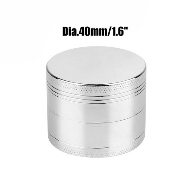 Weed Lovers Shop Grinders China / Sliver 40mm 4 Layers Mini Metal Weed Grinder