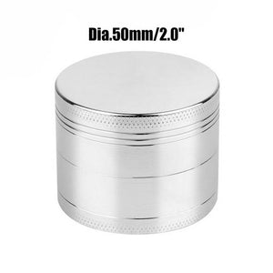 Weed Lovers Shop Grinders China / Sliver 50mm 4 Layers Mini Metal Weed Grinder