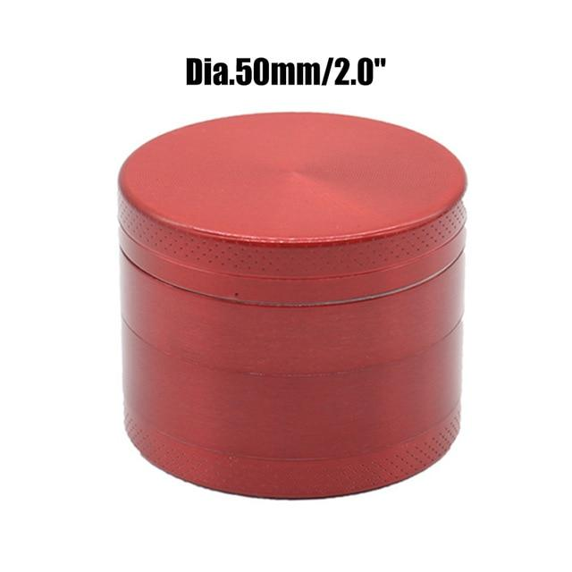Weed Lovers Shop Grinders China / Red 50mm 4 Layers Mini Metal Weed Grinder
