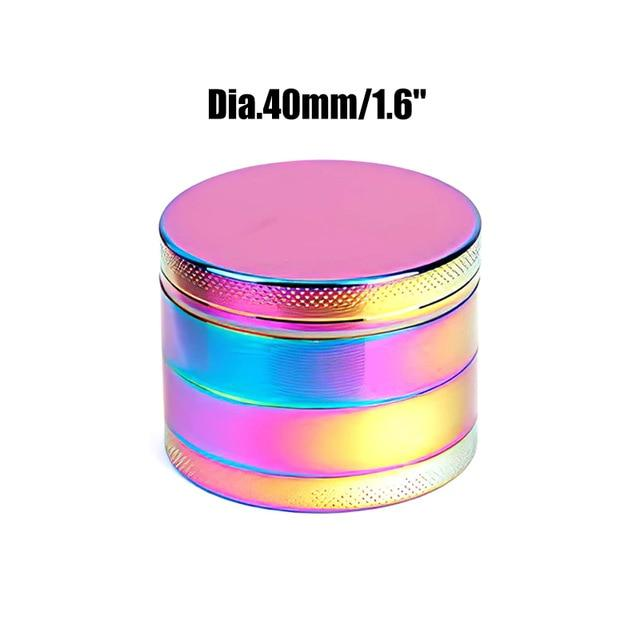 Weed Lovers Shop Grinders China / Rainbow 40mm 4 Layers Mini Metal Weed Grinder