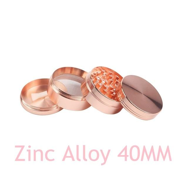 Weed Lovers Shop Grinders Zinc 40MM Pink 40MM 4-layer Aluminum Alloy Weed Grinder