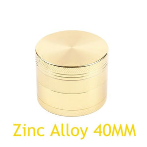 Weed Lovers Shop Grinders Zinc 40MM Gold 40MM 4-layer Aluminum Alloy Weed Grinder