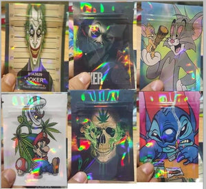Weed Lovers Shop Safe Tools 20 pcs / Mixed 7x10 CM 3.5 Grams Cartoon Weed Bags