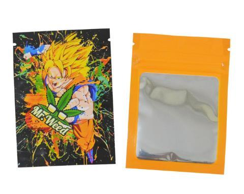 Weed Lovers Shop Safe Tools 30 pcs 12 / as picture 7x10 CM 3.5 Grams Cartoon Weed Bags