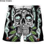Weed Lovers Shop Clothes 11 / S Crossed Joints Weed Beach Shorts