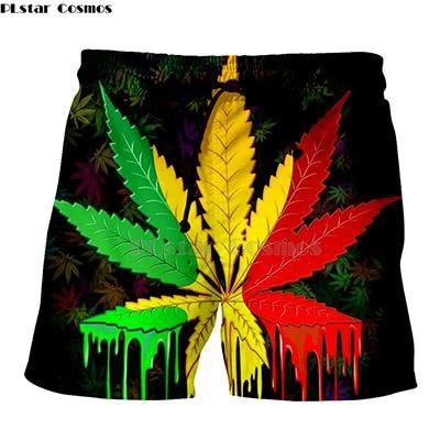 Crossed Joints Weed Beach Shorts