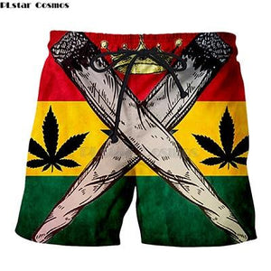 Weed Lovers Shop Clothes 1 / XXXL Crossed Joints Weed Beach Shorts