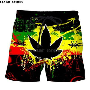 Weed Lovers Shop Clothes 2 / XXXL Crossed Joints Weed Beach Shorts