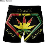 Weed Lovers Shop Clothes 9 / 4XL Crossed Joints Weed Beach Shorts