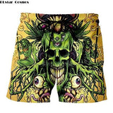 Weed Lovers Shop Clothes 6 / XXXL Crossed Joints Weed Beach Shorts