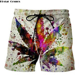 Weed Lovers Shop Clothes 7 / XXXL Crossed Joints Weed Beach Shorts