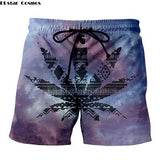Weed Lovers Shop Clothes 3 / XXXL Crossed Joints Weed Beach Shorts
