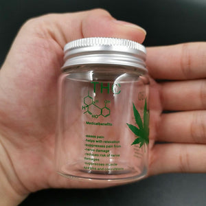 Weed Lovers Shop MISC Glass Weed Storage Bottle With Lid