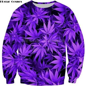 Weed Lovers Shop Clothes sweatshirt / S Leaf Print Sweatshirt