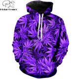 Weed Lovers Shop Clothes Leaf Print Sweatshirt