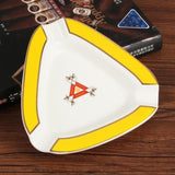 Weed Lovers Shop Ashtrays GA-105 YELLOW 2 / CHINA Luxury Ashtray with Blunt Holder