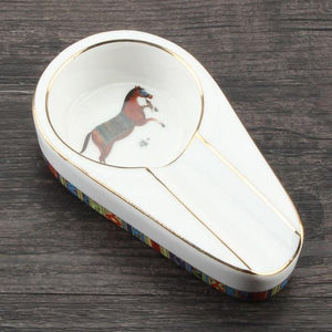 Weed Lovers Shop Ashtrays White / CHINA Luxury Ashtray with Blunt Holder