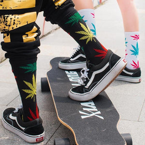 Weed Lovers Shop Socks Men's Skateboard Long Weed Socks