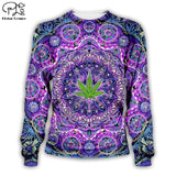 Weed Lovers Shop Clothes 03 / L Psychedelic Weed Hoodie