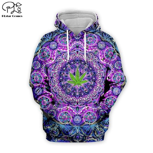 Weed Lovers Shop Clothes 04 / XXL Psychedelic Weed Hoodie