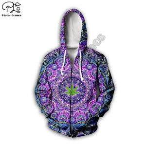 Weed Lovers Shop Clothes 05 / M Psychedelic Weed Hoodie