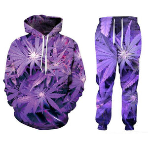 Weed Lovers Shop Clothes Weed pants / S Purple Weed 3D Print Fashion Tracksuits