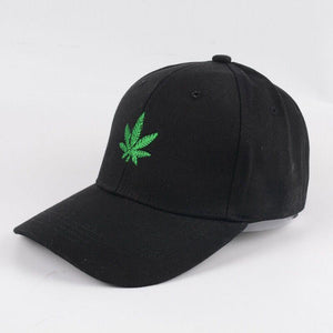 Weed Lovers Shop Clothes Simple Weed Leaf Dad Hat