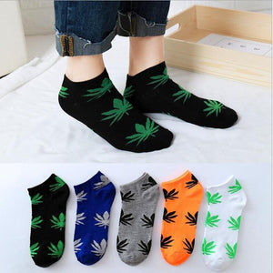 Weed Lovers Shop Socks Unisex Low Cut Weed Leaf Socks
