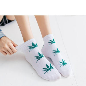 Weed Lovers Shop Socks Unisex Weed Leaf Ankle Socks