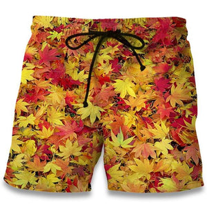 Weed Lovers Shop Clothes Leaf Weeds3 / S Weed Leaf Casual Beach Shorts