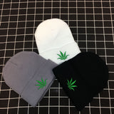 Weed Lovers Shop Clothes Weed Leaf Knitted Beanie Hat
