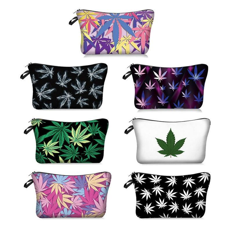 Weed Lovers Shop Safe Tools Weed Leaf Print Smell Proof Bag
