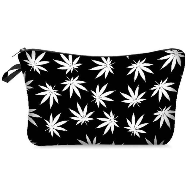 Weed Lovers Shop Safe Tools D Weed Leaf Print Smell Proof Bag