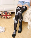 Weed Lovers Shop Clothes FYC8 Weed Leaf Stockings