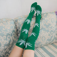 Weed Lovers Shop Clothes FYC3 Weed Leaf Stockings