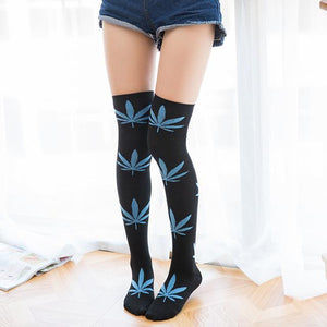 Weed Lovers Shop Clothes FYC1 Weed Leaf Stockings