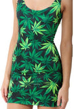 Weed Lovers Shop Clothes Hemp leaf / S Women Casual Summer Style Weed Leaf Beach Dress