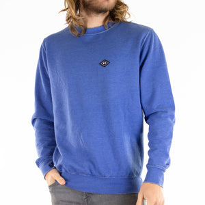 Washed Up Crew Neck - Blue
