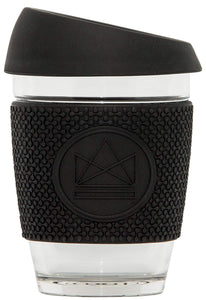 Neon Kactus Reusable Glass Coffee Cup - Rock Star