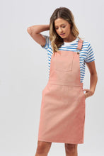 Toni Apron Dungaree Dress - Blush Pink