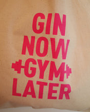 Gin Now Gym Later Tote Bag - Natural