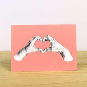 Heart Hands Greetings Card