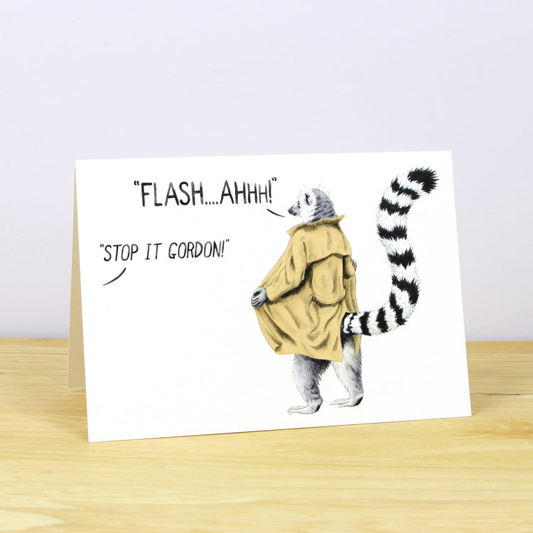 Flash Gordon Lemur Greetings card