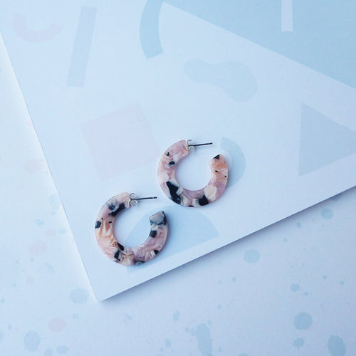 Terrazzo Mini Hoop Earrings