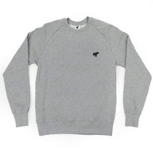 Unisex Plain Bear Organic Logo Sweater - Grey/Black