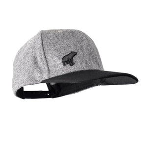 Unisex Plain Bear Snapback - Grey / Black