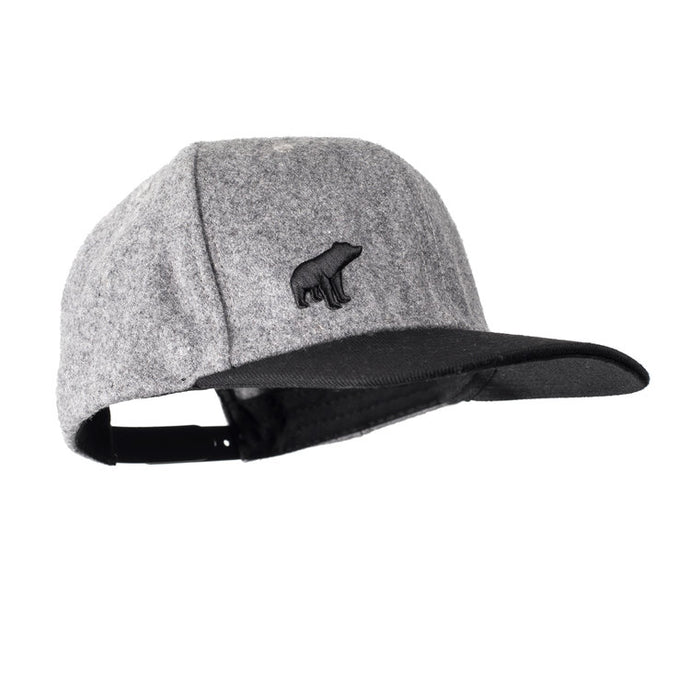 Plain Bear Snapback - Grey / Black